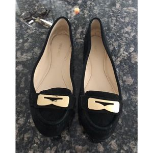Black Suede Nine West Flats